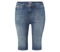 Stone Washed 5-Pocket-Jeansshorts
