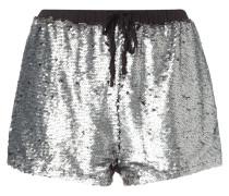 Shorts mit Besatz aus Wende-Pailletten