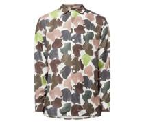 Regular Fit Freizeithemd aus Lyocell Modell 'Anker'