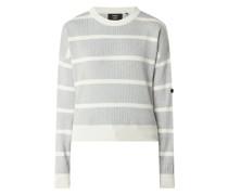 Cropped Pullover mit Streifenmuster