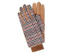 Handschuhe aus Veloursleder und Textil