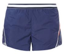 Shorts mit Einsatz aus Mesh