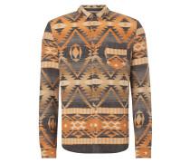 Flanellhemd mit Ikatmuster