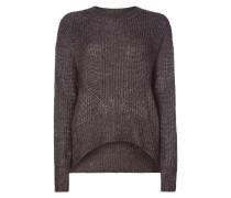 Pullover in Rippenstrick mit Effektgarn