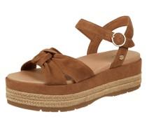 Sandalen aus Veloursleder Modell 'Trisha'