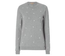 Sweatshirt mit Vogel-Stickereien
