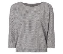 Boxyx Fit Sweatshirt mit Rautenmuster