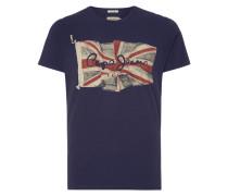 T-Shirt mit Flaggen-Print