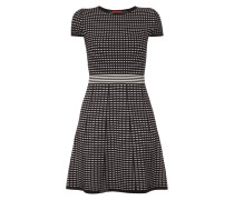 Jerseykleid mit stilisiertem Streifenmuster