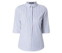 Blusenshirt mit Streifen-Dessin