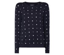 Pullover mit Punkt-Stickereien
