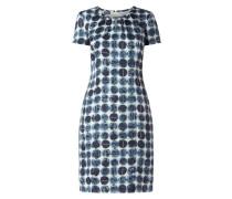 Kleid mit stilisiertem Tupfenmuster