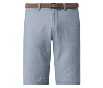 Regular Slim Fit Chino-Shorts aus Baumwolle