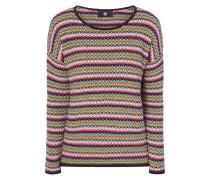 Pullover mit eingestricktem Streifenmuster