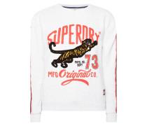 Sweatshirt mit Flockprint und Logo-Print