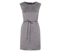 Kleid aus Satin mit grafischem Muster und Gürtel