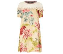 Kleid mit Einsatz aus Spitze
