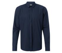 Slim Fit Hemd mit verdeckter Knopfleiste