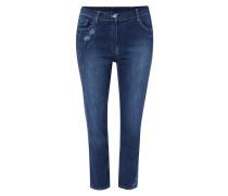 PLUS SIZE - Slim Fit Jeans mit floralen Stickereien