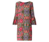 Kleid aus Seide mit floralem Muster