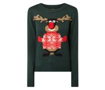 Pullover im Weihnachts-Look Modell 'Jinglebells'