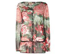 Bluse mit floralem Muster und Schößchen