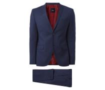Anzug mit 2-Knopf-Sakko und Schurwoll-Anteil