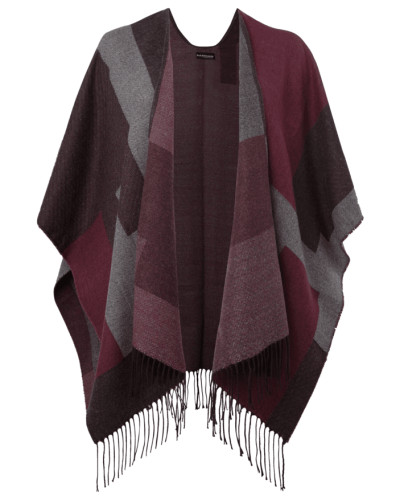 gerry weber damen poncho mit allover muster reduziert. Black Bedroom Furniture Sets. Home Design Ideas