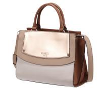 Handtasche mit Metallic-Details