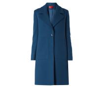 Straight Fit Mantel aus Schurwollmischung