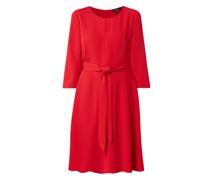 Kleid mit Taillengürtel zum Binden
