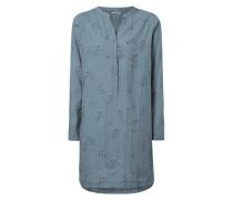 Blusenkleid mit Allover-Muster
