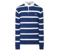 Custom Slim Fit Rugby-Shirt mit Blockstreifen