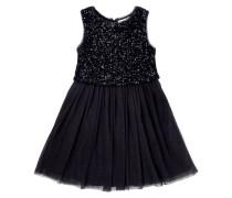 Kleid mit Pailletten-Besatz am Oberteil