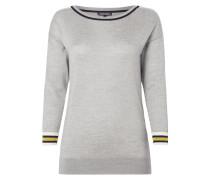 Pullover aus Wolle mit Zierstreifen