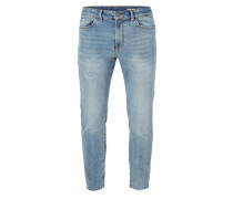 Cropped Skinny Fit Jeans im Used Look