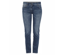 Stone Washed Jeans mit weiter Taille