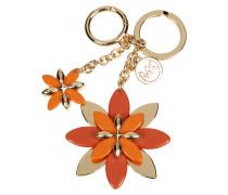 Schlüsselanhänger mit Blüten-Applikationen