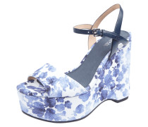 Wedges aus Canvas mit floralem Muster