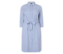 PLUS SIZE - Hemdblusenkleid mit Allover-Muster