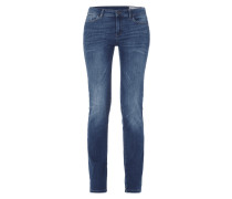 Straight Leg Stone Washed Jeans