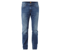 Modern Regular Fit Jeans im Stone Washed-Look