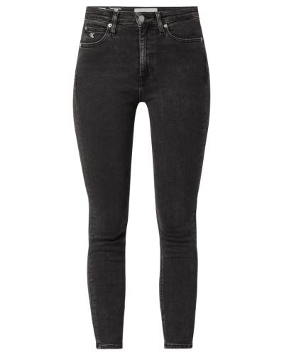 Skinny Fit Jeans mit Logo-Stickereien
