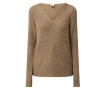 Pullover mit V-Ausschnitt Modell 'Oktavi'