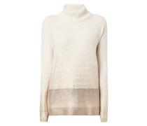Rollkragen-Pullover mit Zickzack-Muster