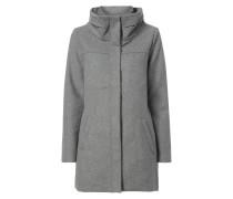 Mantel mit doppellagigem Stehkragen