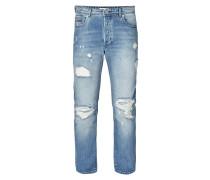 Destroyed Slim Fit 5-Pocket-Jeans