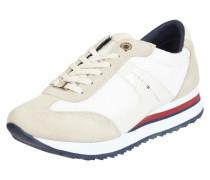 Sneaker aus Leder und Mesh