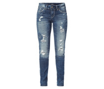 Destroyed Look Skinny Fit 5-Pocket-Jeans