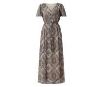 Kleid aus Chiffon mit Ornament-Muster Modell 'Nady'